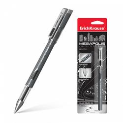 Ручка гелевая ErichKrause® MEGAPOLIS® Gel, цвет чернил черный (в блистере по 1 шт.) 17752