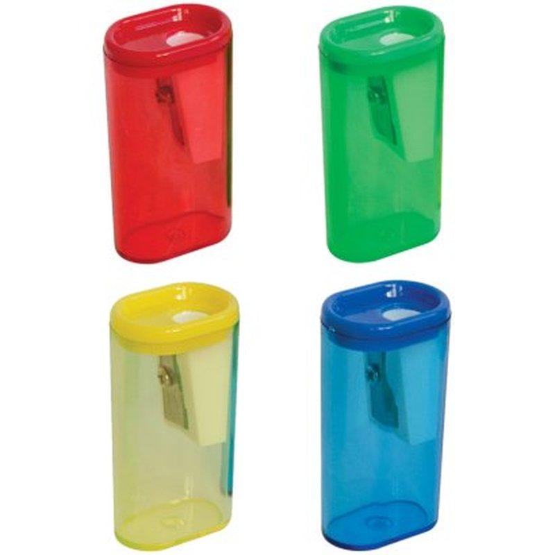 Точилка пластиковая ArtSpace, 1 отверстие, контейнер, ассорти SH2115_1873