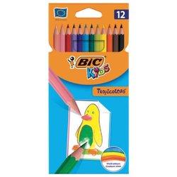 """Карандаши цветные BIC """"Tropicolors"""", 12 цветов, пластиковые, заточенные, европодвес, 8325669/83256610"""