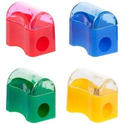 """Точилка пластиковая ArtSpace """"Сундучок"""", 1 отверстие, контейнер, ассорти SHP801_2002"""