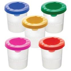 Стакан-непроливайка СТАММ, 5 цветов ассорти (красный, желтый, зеленый, синий, фиолетовый), СН41