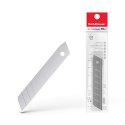 Лезвия ErichKrause® для канцелярского ножа, 18мм (в пакете по 10 шт.) 19274