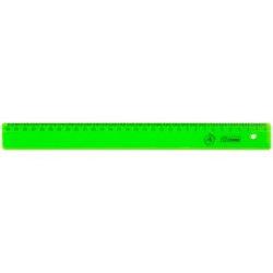 """Линейка 30см Стамм """"Neon"""", для левшей, пластиковая, 4цв. ЛН38"""