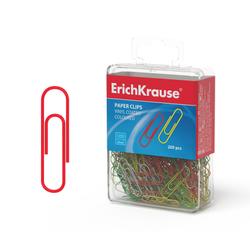 Скрепки металлические с виниловым покрытием ErichKrause® цветные, 28мм (пластиковая коробка 200 шт.) 19740