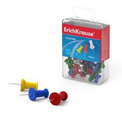 Кнопки силовые ErichKrause® цветные (пластиковая коробка 100 шт.) 19749