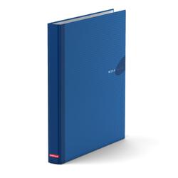Папка–регистратор на 2 кольцах ErichKrause®, Work inside, А4, 35 мм, синий 19869
