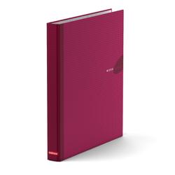 Папка–регистратор на 4 кольцах ErichKrause®, Work inside, А4, 35 мм, бордовый 19875