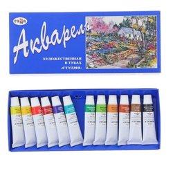 """Акварель Гамма """"Студия"""", художественная, 12 цветов, 9мл/туба, картон 213007"""