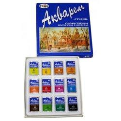 """Акварель Гамма """"Студия"""", художественная, 12 цветов, кюветы, картон 215002"""