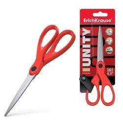 Ножницы ErichKrause® Unity, 16см, красный (в блистере по 1 шт.) 21882