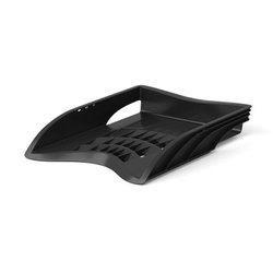 Лоток пластиковый для бумаг ErichKrause® S-Wing, черный 21994