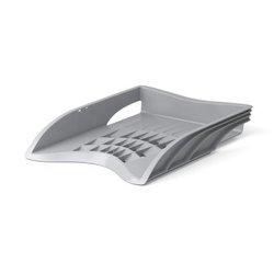 Лоток пластиковый для бумаг ErichKrause® S-Wing, серый 21996