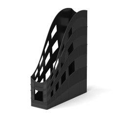 Подставка пластиковая для бумаг вертикальная ErichKrause® S-Wing, 75мм, черный 21997