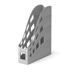 Подставка пластиковая для бумаг вертикальная ErichKrause® S-Wing, 75мм, серый 21999