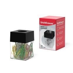 Диспенсер для скрепок магнитный ErichKrause®, в наборе 100 цветных скрепок 22096