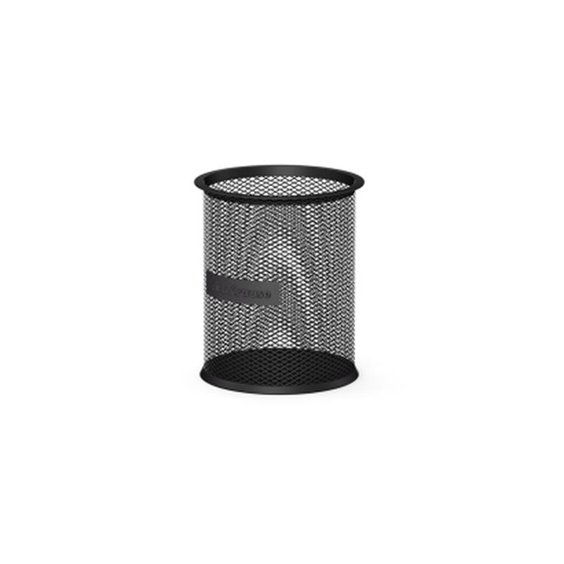 Подставка металлическая для пишущих принадлежностей цилиндрическая ErichKrause® Steel, черный 22501