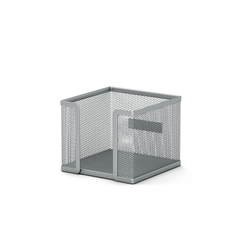 Подставка металлическая для бумажного блока прямоугольная ErichKrause® Steel, серебряный 22506