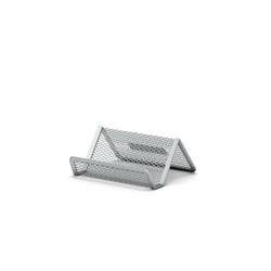 Подставка металлическая для визитных карточек ErichKrause® Steel, серебряный 22508