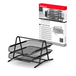 Лоток металлический для бумаг 2-х уровневый ErichKrause® Steel, черный 22511