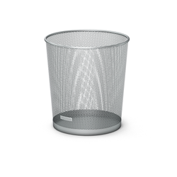 Корзина металлическая для бумаг ErichKrause® Steel, серебряный 22516