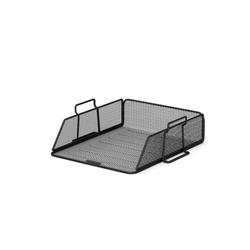 Лоток металлический для бумаг ErichKrause® Steel, черный 22517