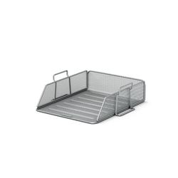 Лоток металлический для бумаг ErichKrause® Steel, серебряный 22518