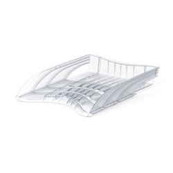 Лоток пластиковый для бумаг ErichKrause® S-Wing, прозрачный 22533