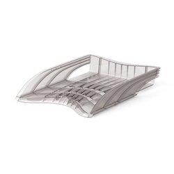 Лоток пластиковый для бумаг ErichKrause® S-Wing, дымчатый 22534