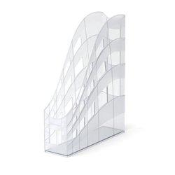 Подставка пластиковая для бумаг вертикальная ErichKrause® S-Wing, 75мм, прозрачный 22535