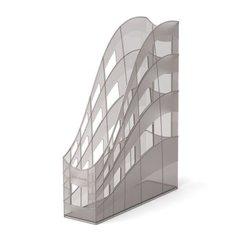 Подставка пластиковая для бумаг вертикальная ErichKrause® S-Wing, 75мм, дымчатый 22536