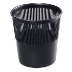 Корзина для бумаг, 9 л, сетчатая, черная, СТАММ, КР21