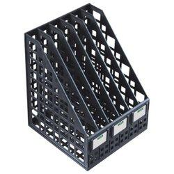 Лоток для бумаг вертикальный Стамм, сборный, 6 отделений, черный ЛТ87