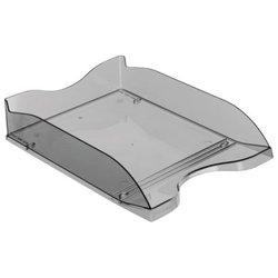 """Лоток для бумаг горизонтальный Стамм """"Люкс"""", тонированный серый ЛТ62"""