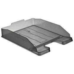 """Лоток горизонтальный для бумаг СТАММ """"Эксперт"""", А4 (340х255х63 мм), тонированный серый, ЛТ203"""