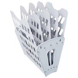 Лоток для бумаг веерный Стамм, 5-ти секционный, серый ЛТ90