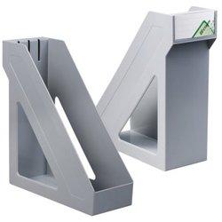 "Лоток вертикальный для бумаг, увеличенная ширина (265х100х285 мм), СТАММ ""Базис"", серый, ЛТ31"