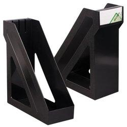 """Лоток для бумаг вертикальный Стамм """"Базис"""", черный ЛТ32"""