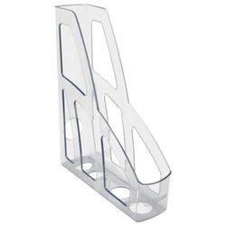 "Лоток вертикальный для бумаг СТАММ ""Лидер"" (250х75х300 мм), прозрачный, ЛТ130"