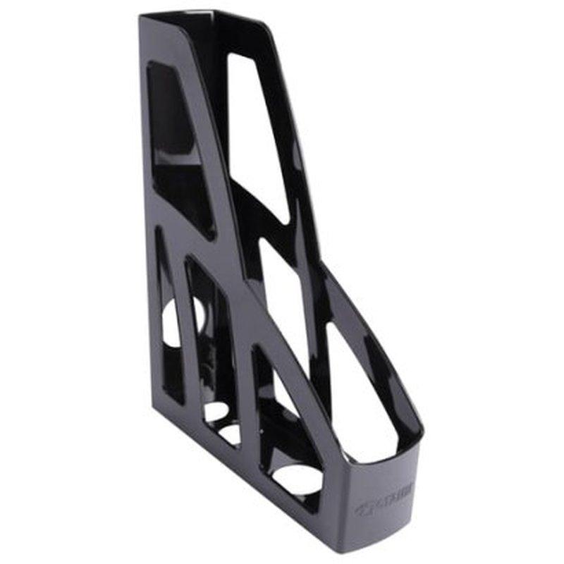 """Лоток вертикальный для бумаг СТАММ """"Лидер"""" (250х300 мм), ширина 75 мм, черный, ЛТ122"""