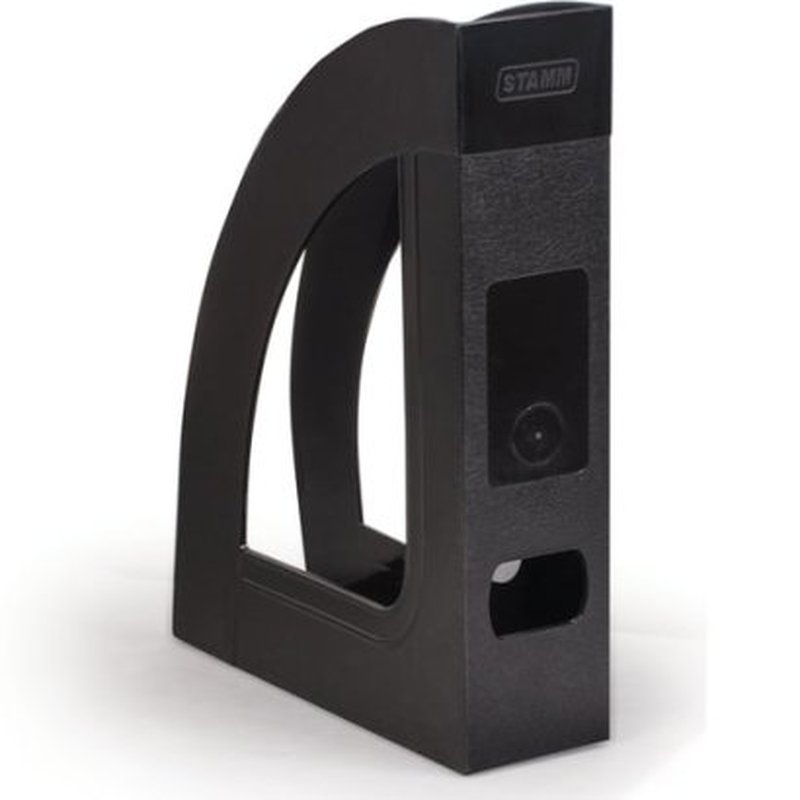"""Лоток вертикальный для бумаг СТАММ """"Респект-эконом"""" (220х290 мм), ширина 70 мм, полипропилен, черный, ОФ111"""