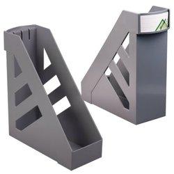 """Лоток вертикальный для бумаг, увеличенная ширина (250х290 мм), увеличенная ширина 100 мм, СТАММ """"Ультра"""", серый, ЛТ01"""
