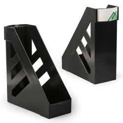 """Лоток вертикальный для бумаг, увеличенная ширина (250х290 мм), увеличенная ширина 100 мм, СТАММ """"Ультра"""", черный, ЛТ02"""