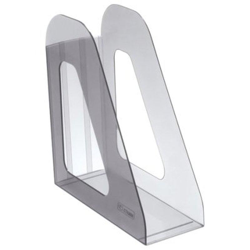 """Лоток для бумаг вертикальный Стамм """"Фаворит"""", тонированный серый ЛТ703"""