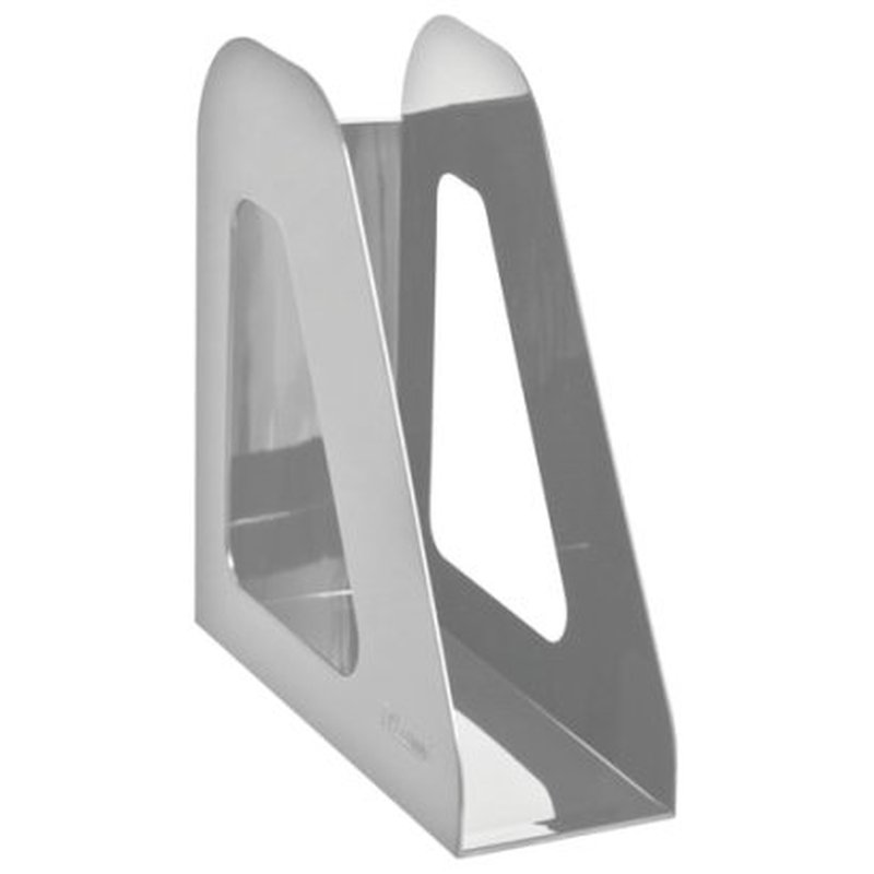 "Лоток вертикальный для бумаг СТАММ ""Фаворит"" (235х240 мм), ширина 90 мм, серый, ЛТ706"