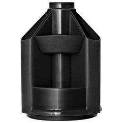 """Подставка-органайзер СТАММ """"Mini Desk"""", вращающаяся, 107х107х140 мм, 10 отделений, черная, ОР70"""