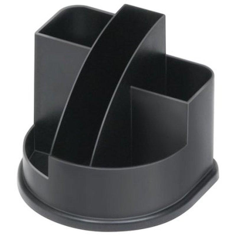 """Подставка-органайзер СТАММ """"Авангард"""", 132х122х108 мм, 5 отделений, черная, ОР52"""