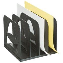 Лоток-сортер вертикальный Стамм, сборный, 4 отделения, черный СО02