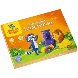 "Пластилин Мульти-Пульти ""Приключения Енота"", 08 цветов, 160г, со стеком, картон КП_10207"