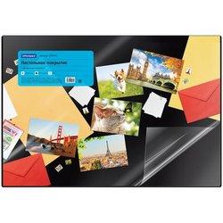 Настольное покрытие OfficeSpace 45*65см, черное, с прозрачным клапаном 239043