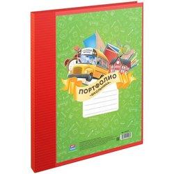 Папка-портфолио пластиковая А4 ArtSpace, на 2-х кольцах для школьника, 10 файлов 243659